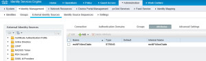 Cisco ISE Attribute setting