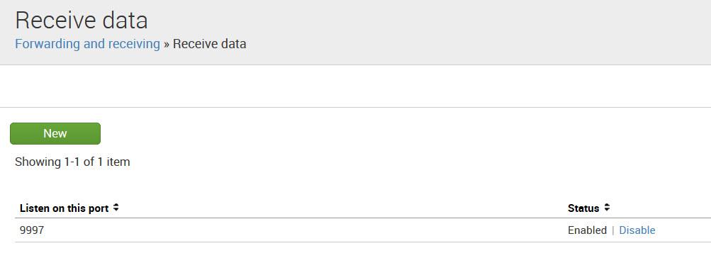 Splunk Indexer Receiving data configuration
