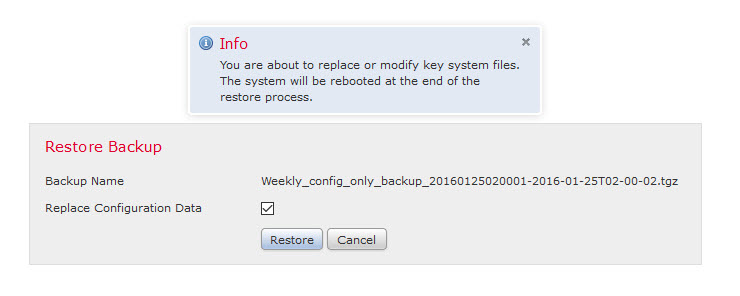 Sourcefire restore