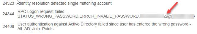 Cisco ISE: RPC Logon request failed ERROR_INVALID_PASSWORD,user