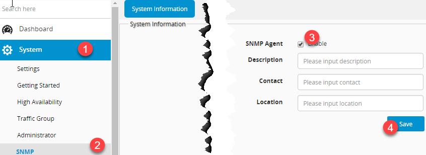FortiADC: SNMP monitoring – FINKOTEK