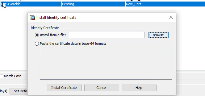 Cisco ASA: replace certificate without private key – FINKOTEK